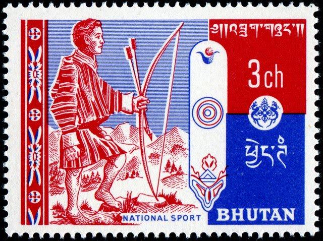 Bhutan-2Archer-5-16-62SG2Litho-HarrisonSons (1)