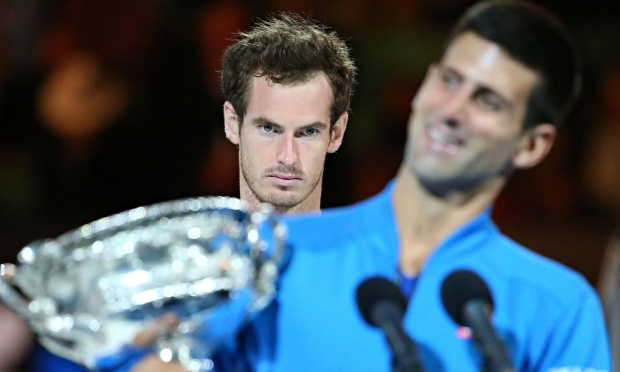 Novak Djokovic and Andy Murray. Photo: The Guardian