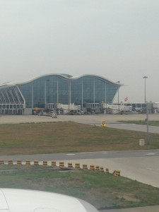 Shanghai Airport Terminal 2, shaped like a bow.