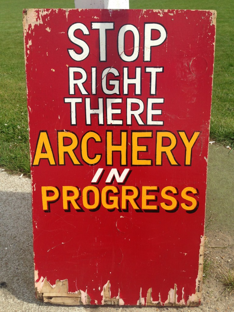 stop right there - archery in progress