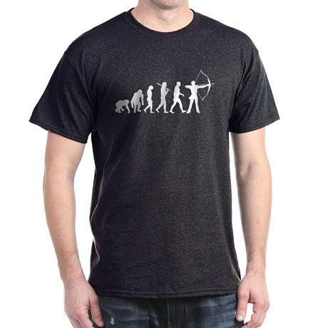 evolution_of_archery_dark_tshirt